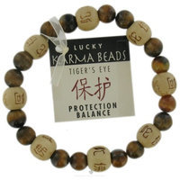 Zorbitz Inc. Tigers Eye Karma Bracelet: Protection From Evil and Anxiety Novelty Item