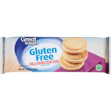 Wal-mart Stores, Inc. Great Value Gluten Free Vanilla Sandwich Cream Cookies, 10.6 oz