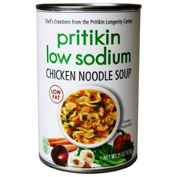 Pritikin Chicken Noodle Soup, Low Sodium, 15-Ounce Cans (Pack of 12)