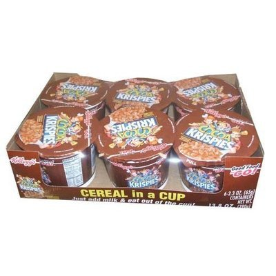 Rice Krispies Kellogg's Cocoa Krispies Chocolatey Sweetened Rice Cereal Six 2.3 Ounce Cups