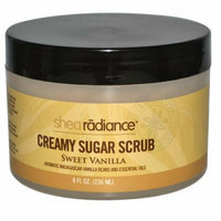 Shea Radiance Creamy Sugar Scrub Sweet Vanilla 8 oz
