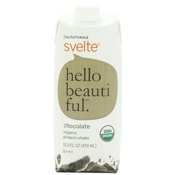 CalNaturale Svelte Organic Gluten Free Protein Shake, Chocolate, 15.9 Ounce (Pack of 12)