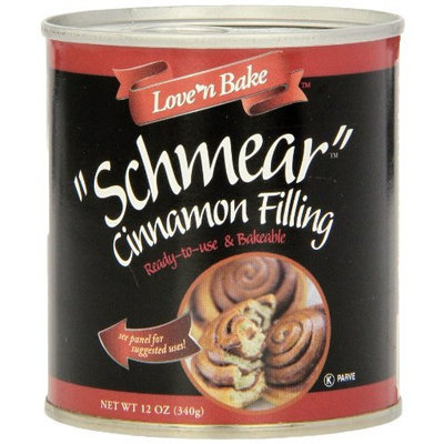 Love 'N Bake Schmear Cinnamon Filling , 12-Ounce Cans (Pack of 6)