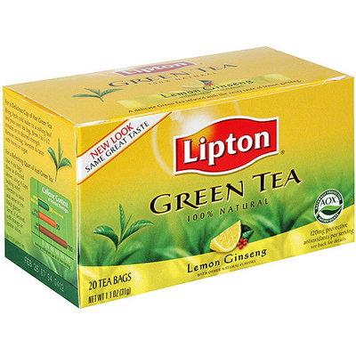 Lipton Lemon Ginseng Green Tea, 20ct (Pack of 6)