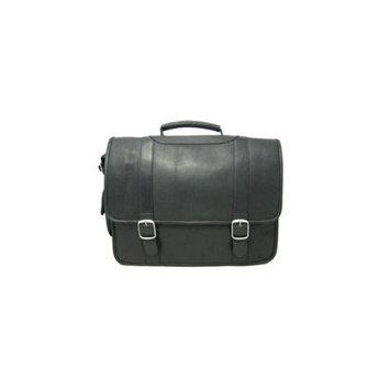 David King Leather Laptop Briefcase
