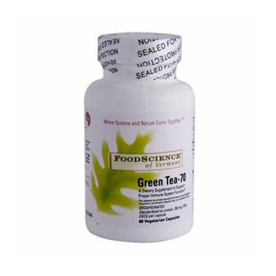 FoodScience of Vermont Green Tea-70 350 mg 60 Vegetable Capsules