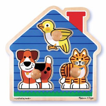 Melissa and Doug House Pets Jumbo Knob Ages 1+, 1 ea