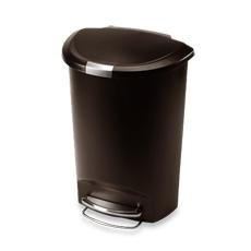 simplehuman® 50-Liter Semi-Round Plastic Step Trash Can - Mocha