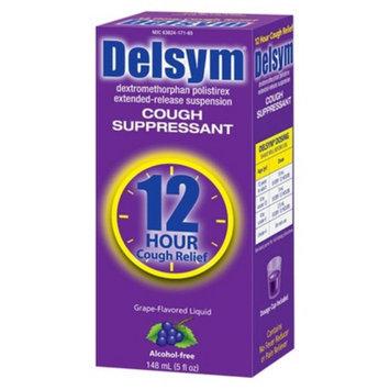 Delsym 12 Hour Cough Suppressant Grape Flavored Liquid
