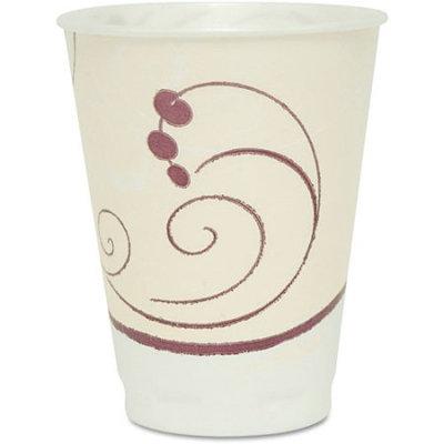 SOLO Cup Company Symphony Design Trophy Foam Hot/Cold Drink Cups