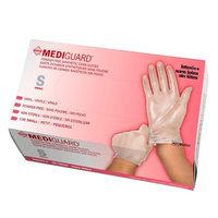 Medline Mediguard Exam Glove Vinyl PF 1500ct, Small, Clear, 1 ea