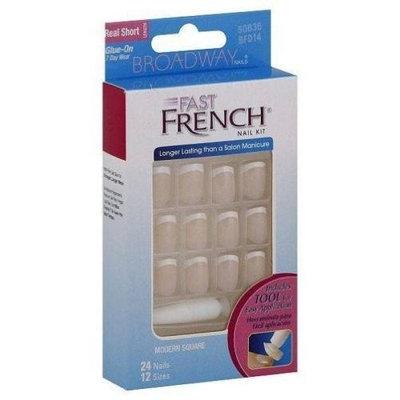 Kiss Broadway Nails Fast French Nail Kit Real Short # Bfd14 # Pink