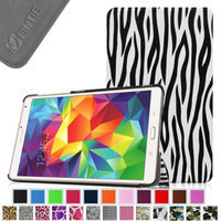 Fintie Ultra Slim Lightweight Stand Case Cove for Samsung Galaxy Tab S 8.4 (8.4-Inch) Tablet, Zebra
