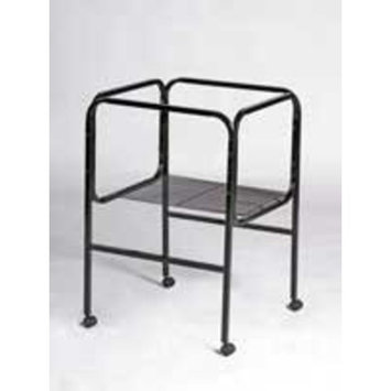 Prevue Pet Products BPV445 Bird Cage Stand with Castors for 16-Inch Diameter Base Cages, Black/White