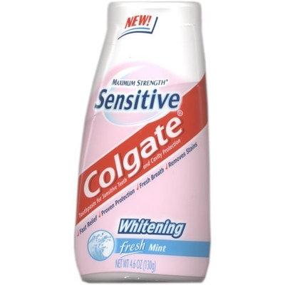 Colgate Toothpaste for Sensitive Teeth, Maximum Strength, Whitening, Fresh Mint 4.6 oz (2 Pack)