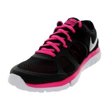 Nike Women's Flex 2014 Rn Running Shoe [Black/Mtllc Slvr/Vvd Pnk/White, 5.5 B(M) US] [{