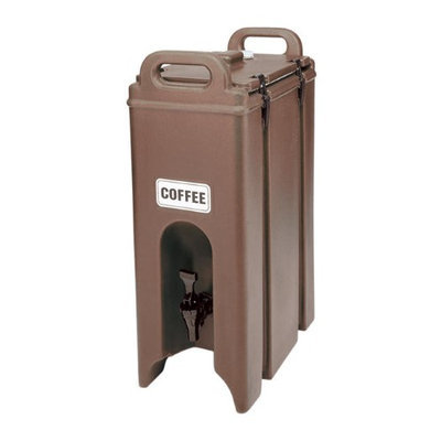 Cambro 500LCD131 - Insulated Beverage Carrier, 5-Gallon, Dark Brown