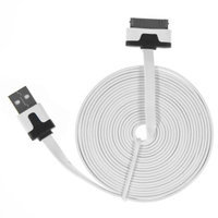 Charge n Go 10 Foot Flat Charging Cable Cord 30 Pin USB iPhone