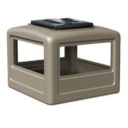 Commercial Zone Square Ashtray Dome Lid Color: Brown