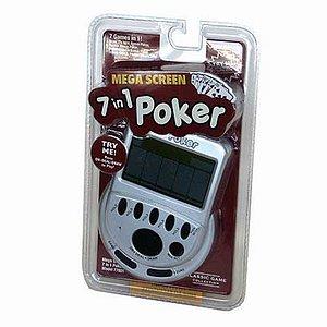 John N. Hansen Classic Mega Screen 7 in 1 Poker Handheld Game Ages 18+