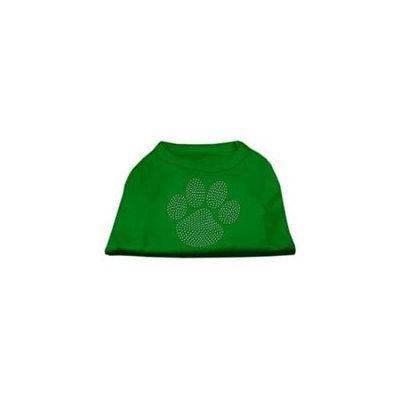 Ahi Clear Rhinestone Paw Shirts Emerald Green XS (8)