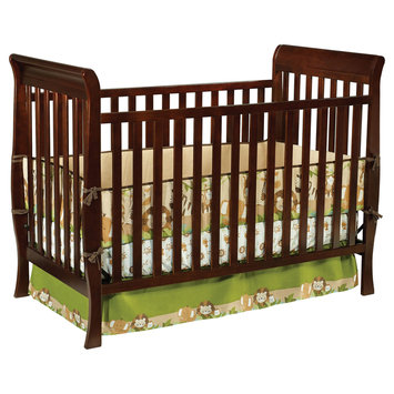 Delta Enterprise Corp Delta Childrens Columbia 3 in 1 Convertible Crib-Espresso - DELTA ENTERPRISE CORP.
