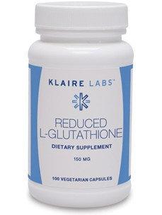 Klaire Labs, Reduced L-Glutathione 150 mg 100 Vegetarian Capsule