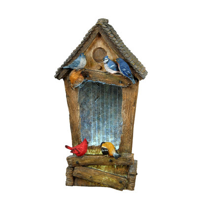27 Inches Birdhouse Fountain 7222910 by Beckett