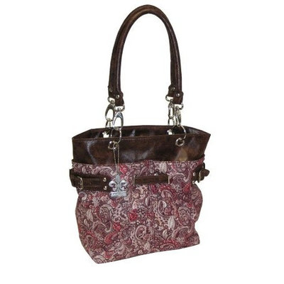 Kalencom Ultimate Midi Tote, Paisley Pink (Discontinued by Manufacturer)