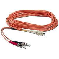 QVS 3m Fiber Duplex LC Male to ST Patch Cord, FDLCST-3M