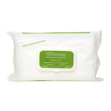 A World of Wipes - Professional Natural Adult Disposable Washcloths