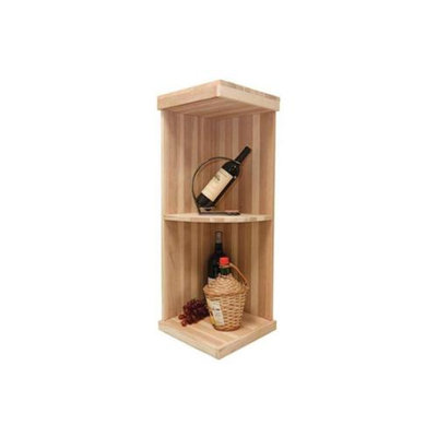 Wine Cellar Innovations 3 ft. Quarter Round Display Wine Shelf (All-Heart Redwood - Unstained)