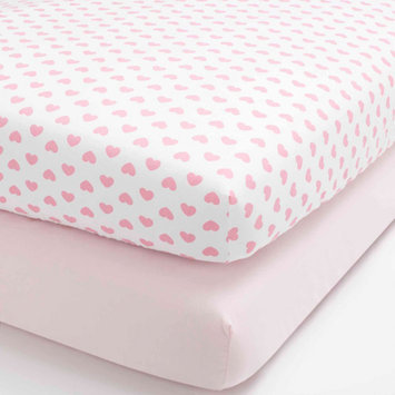 Child of Mine by Carter's Love is in the Air Set of 2 Fitted Crib Sheets