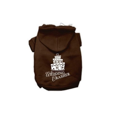 Mirage Pet Products Wedding Crasher Screen Print Pet Hoodies Brown Size Med (12)