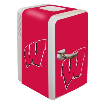 Boelter Brands NCAA Wisconsin Badgers Portable Party Fridge 15 Quart HHK0KX7A2-1614