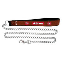 GameWear San Francisco 49ers Football Leather 2.5mm Chain Leash - M
