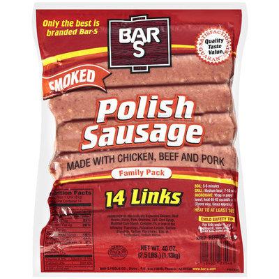 Bar-S Polish Smoked Sausage, 14ct