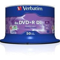 Verbatim DVD Recordable Media - DVD+R DL - 8x - 8.50 GB Spindle