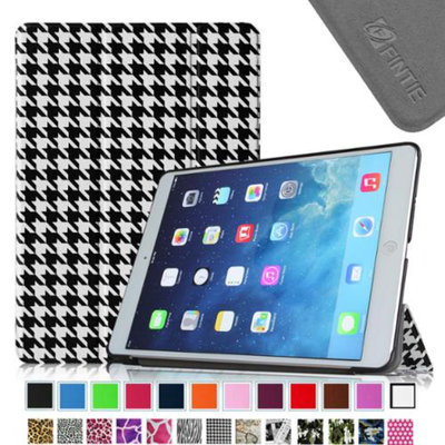 Fintie Smart Shell Leather Case Cover for iPad Mini 2 (2013 Edition) and Mini (2012 Edition), Houndstooth Black