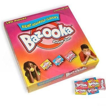 Wonka Bazooka Bubble Gum Assorted 120 units 1 Pack