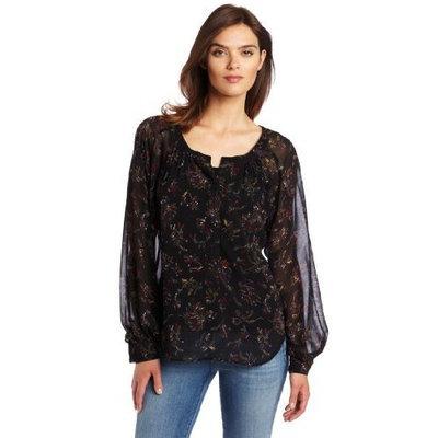 Patterson J. Kincaid Women's Deanna Long Sleeve Tunic, Black Multi, Medium