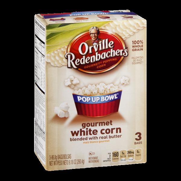 Orville Redenbacher's Pop Up Bowl Gourmet White Corn - 3 CT