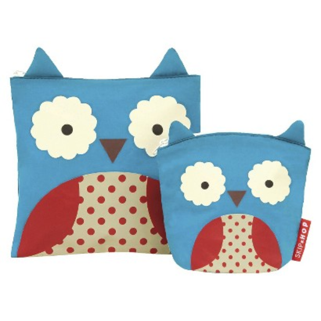 Zoo Toddler Reusable Sandwich and Snack Bag Set - Owl by Skip Hop