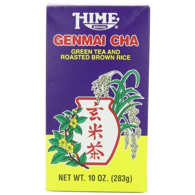 Hime Genmai Cha Green Tea and Roasted Brown Rice, 10-Ounce Boxes (Pack of 4)