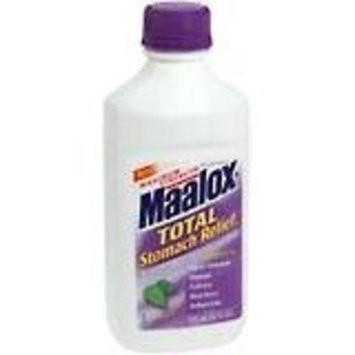 Maalox Total Stomach Relief Maximum Strength Liquid, Peppermint - 12 Oz