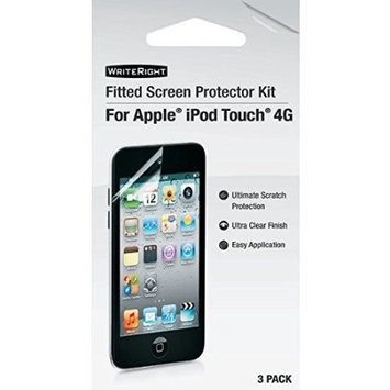 Eforcity Writeright 9247601 Fitted Screen Protectors compatible with Ipod Touch 4G, 3 Pk