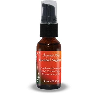 Arganashop, LLC Essential Argan Oil, 100% Pure Virgin Cold Pressed, Organic, 1fl.oz/30ml., treatment pump