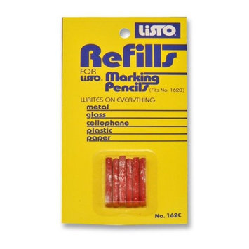 Listo 162crd Marking Pencil Refill - Redlisto Marking Pencil 6 / Cd