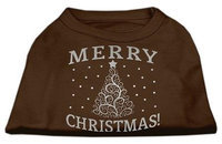 Mirage Pet Products 51-131 XSBR Shimmer Christmas Tree Pet Shirt Brown XS - 8