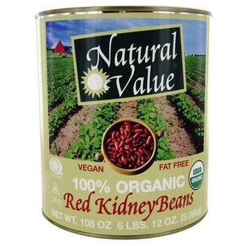 Natural Value Kidney, Red, 108-Ounce (Pack of 6)